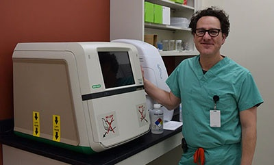 Dr. Greiner with the Chemidoc MP Imaging System