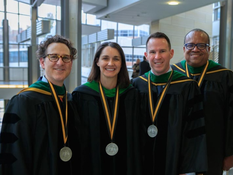 Dr. Mark Greiner and other New Endowed Professorship recipients