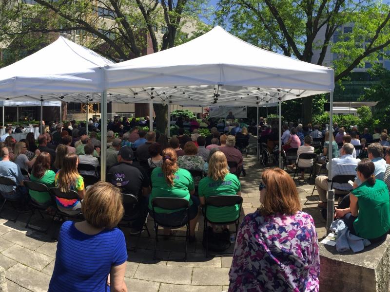 Participants at Garden Event
